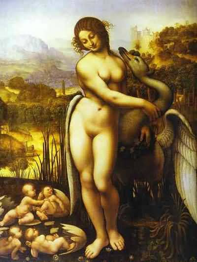 leonardo-da-vinci-painting-leda-and-the-swan