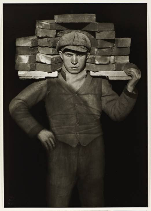 Bricklayer 1928 by August Sander 1876-1964